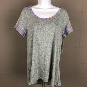 Lularoe Women's T-shirt Size S Gray RK15 NWT
